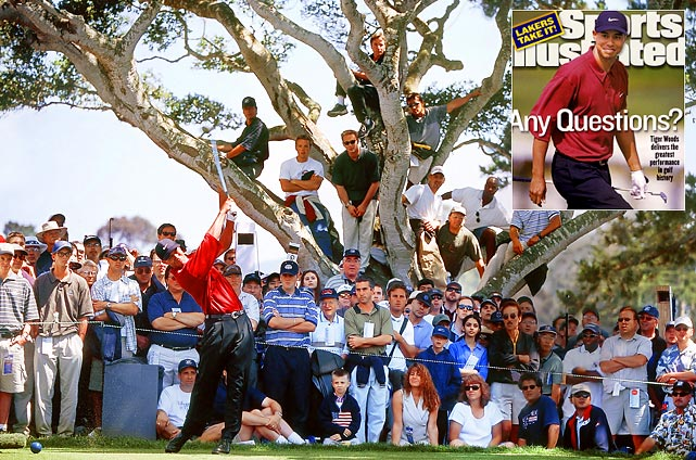 At the 100th anniversary of the American major, Woods won in a historic rout at Pebble Beach.