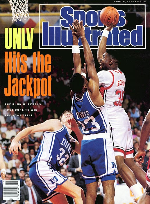 In the most lopsided NCAA title game ever, Jerry Tarkanian and the Running Rebels defeated Mike Krzyzewski's Duke squad by 30 points.