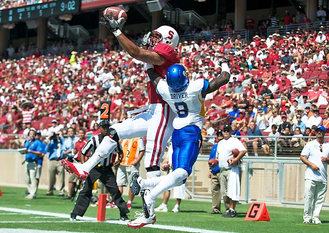 Andrew Luck may not have one star receiver to count on, but he connected with seven different pass-catchers on Saturday. The Heisman Trophy frontrunner completed 17-of-26 passes for 171 yards and two touchdowns and ran for another score to extend the Cardinal's win streak in the Silicon Valley series. San Jose State last won in 2006.