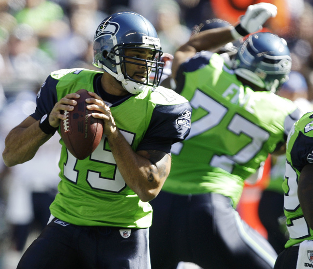 "The Seahawks opened eyes in 2009 when they debuted a lime-green jersey. They lasted one game and were dropped by then-coach Jim Mora Jr. because ""we didn't win in them."""