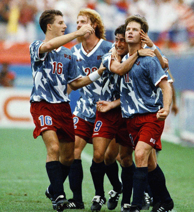 The U.S. made it to the Round of 16 at the 1994 World Cup, but any pride the team may have felt was quickly erased with these uniforms.