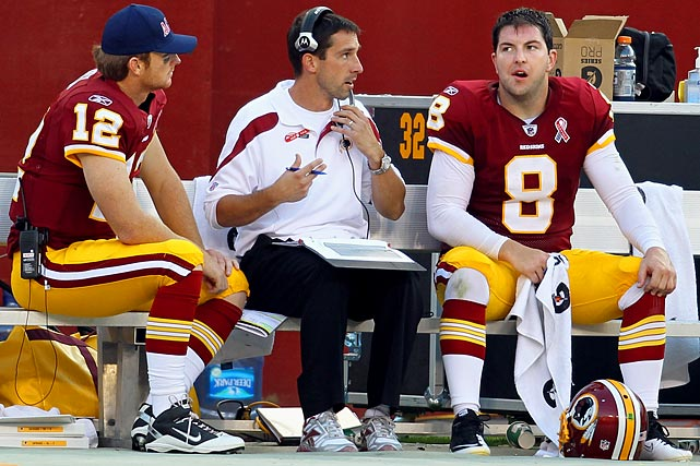 Washington Redskins (3-6) -- Neither Rex Grossman nor John Beck has looked like the answer in Washington. Jacksonville Jaguars (3-6) -- If Jack Del Rio gets the ax would it also be the end of the Blaine Gabbert era in Jacksonville? Cleveland Browns (3-6) -- Cleveland would have to lose more games and give up on Colt McCoy to draft Luck. Philadelphia Eagles (3-6) -- The team, which is better than its record shows, committed to Michael Vick with a six-year, $100 million contract in the offseason.