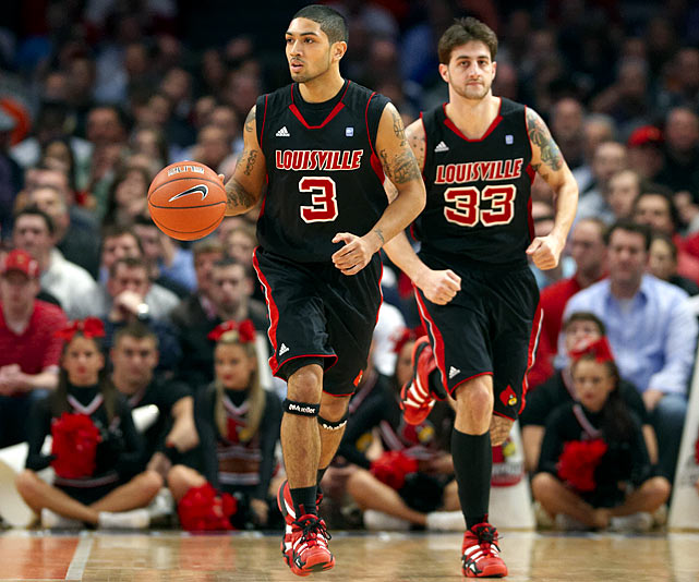 Siva, one of the best athletes anywhere at the point-guard position, can be a menace on D: He had the Big East's second-highest steal percentage (4.13) last season. Kuric is a sharpshooter who hit 44.9 percent of his threes as a junior.
