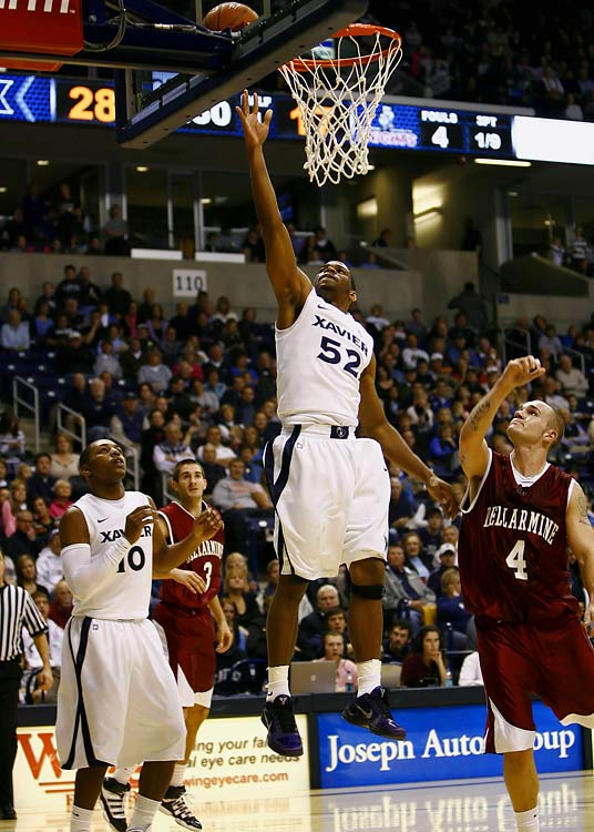 Holloway was a true ironman, playing 94.5 percent of the Musketeers' minutes as a junior. Only two major-conference guards, Penn State's Talor Battle and Virginia Tech's Malcolm Delaney, logged a higher minute percentage last season. Redford, perhaps the A-10's most lethal shooter, missed all of '10-11 with an ACL tear but is hoped to return to Xavier's lineup for a full senior season.