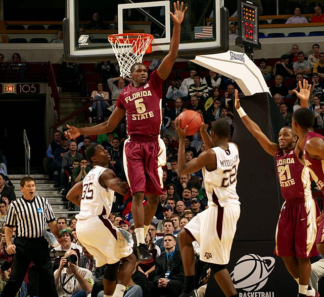 The Seminoles' frontcout is here because of its D; this crew, anchored by the 6-foot-10 James, contributed to the 'Noles being the nation's most efficient defense last season, and held opponents to a national-low 40.0 percent shooting inside the arc.