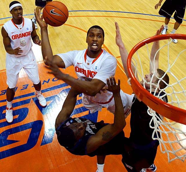 The Orange won't be the same without workhouse power forward Rick Jackson manning the paint, but at least they're replacing him with a McDonald's All-American in Christmas, a 6-foot-9 prospect from the Virgin Islands by way of Philadelphia. Joseph is a Wooden Award candidate while Fair could have a breakout season after playing effectively in limited minutes as a freshman.