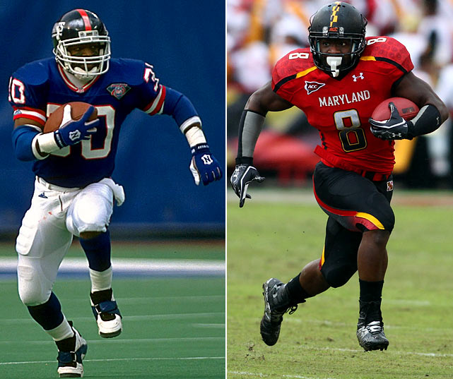 Dave Meggett played under Bill Parcells at three NFL franchises (New York Giants, New England Patriots, New York Jets). Meggett's son Davin is currently a starting running back for Maryland.
