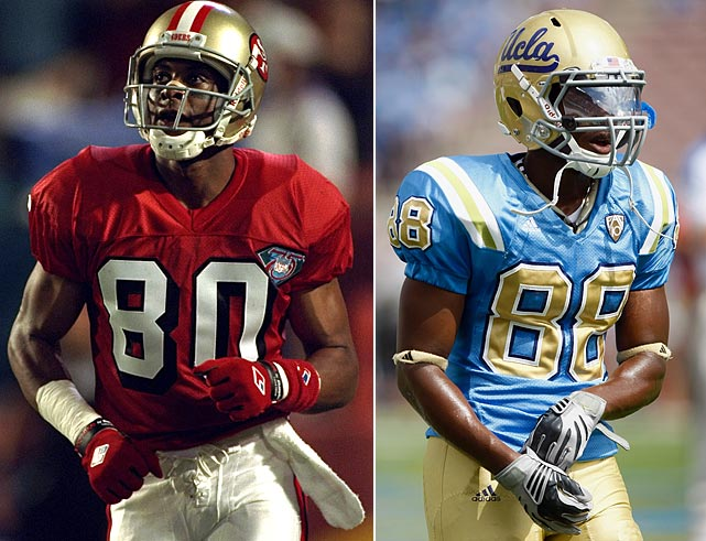 Hall of Fame receiver Jerry Rice is one of the best players of all time. He played in 13 Pro Bowls, won three Super Bowls with the San Francisco 49ers and is the all-time leader in most wide receiver statistical categories. Rice's son Jerry, Jr., is a walk-on wide receiver at UCLA.