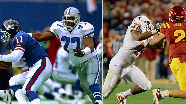 Jim Jeffcoat enjoyed a successful 15-year career in the NFL as a defensive end, winning two straight Super Bowls with the Dallas Cowboys (XXVII, XXVIII). His son Jackson, a defensive end at Texas, was a freshman All-America in 2010.