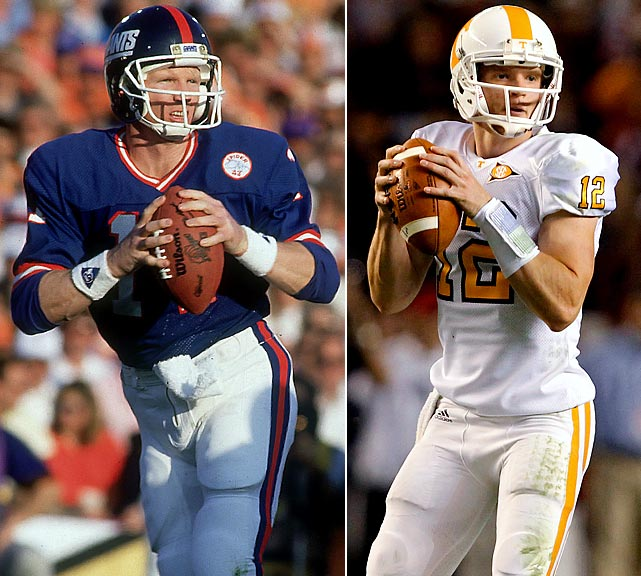 Matt Simms is hoping to make it big like his father, Phil, a two-time Super Bowl champion, 1987 Super Bowl MVP and 1985 Pro Bowl MVP. Matt is a senior quarterback at the University of Tennessee.  His older brother Chris was a starting quarterback at the University of Texas and also played in the NFL.