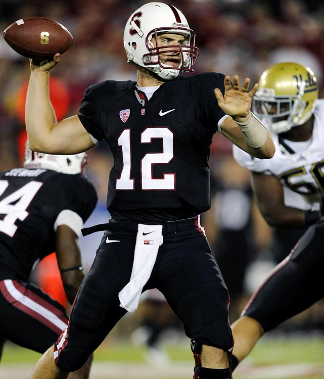 Last week:  23-of-27 passing for 227 yards and three TDs; three rushes for 11 yards and one reception for 13 yards in 45-19 win over UCLA.   Season:  80-of-112 passing for 1,013 yards, 11 TDs and one INT; 11 rushes for 58 yards and one TD; one reception for 13 yards.  Something tells me we're going to  see this highlight  a time or two. During the first quarter of the Cardinal's win, Luck pitched the ball to Tyler Gaffney, who then flipped it to receiver Drew Terrell, who was running a reverse. Terrell stopped and threw down the right sideline to Luck, who made a one-handed catch -- the second of his career -- for a 13-yard gain. He wasn't too shabby at QB either, hitting on a season-high 85.2 percent of his passes and coach David Shaw even allowed him to call the plays during a no-huddle sequence.   Next up:  Saturday vs. Colorado