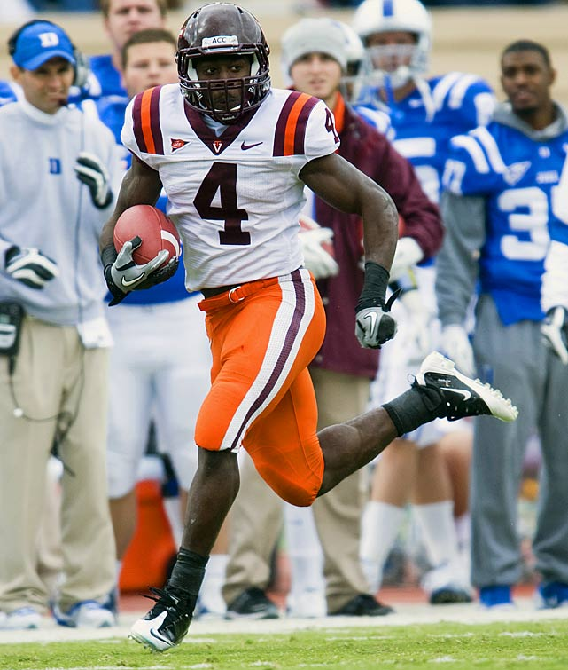 Last week:  23 rushes for 148 yards; one reception for three yards; one kick return for seven yards in 14-10 win over Duke.   Season:  187 rushes for 1,185 yards and seven TDs; 16 receptions for 99 yards and one TD; 16 kickoff returns for 299 yards.  The nation's leading rusher? It's not Richardson, LaMichael James or even Denard Robinson. It's Wilson, who rattled off his sixth straight 100-yard game as the Hokies eked out a win over Duke. Wilson is on pace to break the Virginia Tech single-season rushing mark of 1,655 yards Ryan Williams set in 2009. A run at the Heisman is unlikely at this point, but Wilson had been among the nation's most consistent and underrated performers. He can open some eyes on Nov. 10 with a primetime matchup against Georgia Tech.   Next up:  Thursday at No. 22 Georgia Tech