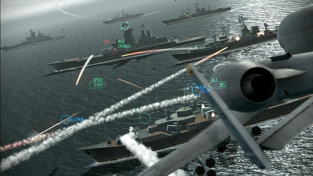 Ace Combat puts you in the air for some fast-paced aerial combat in the latest incarnation of the franchise. The plot of Assault Horizon takes you around the globe to real world locations where you'll be tasked with straight-forward missions to either shoot enemies out of the sky or protect ground personnel with support aircraft. In the game you'll get to pilot various jets, helicopters and bombers, all of which are beautifully rendered. You can choose to fly either in a first-person view where you see target sights and displays, or you can go third-person and see your craft on screen. The later is a little harder but more visceral. Multiplayer options are solid, featuring co-op and other standard modes. All of them extend the dog-fighting glory of Assault Horizon and let you find out if you're the ace you think you are.  Score: 8 out of 10