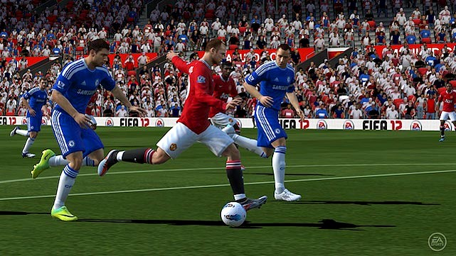 FIFA makes a seamless jump to PlayStation's new handheld, porting over sharp graphics and a lot of the gameplay modes you're used to from the console version. The biggest advantage to playing this portable version of FIFA is the Vita's touch screen, which revolutionize how you pass and shoot. You can still use the standard controller set-up, but with the Vita you can also just tap your finger on either the front or back touchscreens to a spot on the field and the ball will sail to that area. It's a great way to lob passes to streaking teammates. You can also aim shots with your fingers by tapping to specific areas of the goal when the game switches to shooting view. The first few times you get the ball, you may accidentally graze the back of the unit and send a ball careening out of bounds, but once you get used to the new set-up, you won't want to go back. The new controls put FIFA at the forefront of getting the most out of the Vita as we near its February launch.