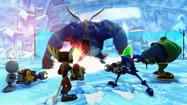 Ratchet and Clank: All 4 One takes the series highly-polished action platforming and turns it into a four-player cooperative (and not just a little competitive) experience. Players can control Ratchet, Clank, Captain Qwark and the lovably evil Dr. Nefarious through an adventure against a new threat, with online and couch-based multiplayer gameplay. The action is as tight as ever alternating between big set pieces and galaxy-spanning platform shenanigans with better-than-average voice acting and writing. The game isn't nearly as compelling alone as it is with friends, though the AI Clank character does a serviceable job of pretending to be a second player. Like Marvel: Ultimate Alliance and New Super Mario Bros., the real fun comes with competing and collaborating with friends, and the bright graphics, silly characters, bloodless action and forgiving gameplay make big fun for families. Given the multiplayer focus, though, hardcore fans of the series may find the single-player experience a little thin.  Score: 8 out of 10