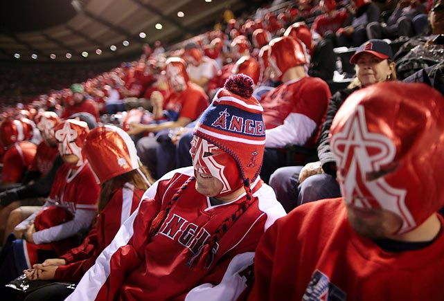 It took over 40,000 Los Angeles Angel fans in Anaheim, Calif., to set this record.