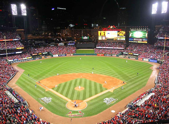 The St. Louis Cardinals hosted the 2011 World Series at Busch Stadium against the Texas Rangers.