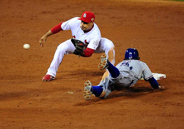 Ian Kinsler led off the ninth inning with a single, stole second base and tied the game on Josh Hamilton's sac fly.