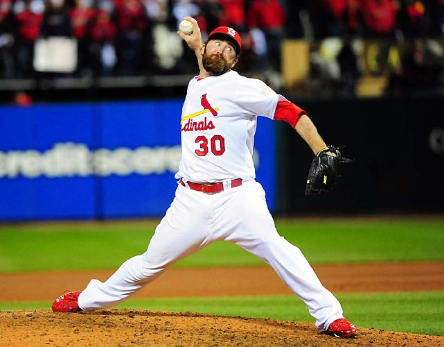 After closing out Game 1, Cardinals closer Jason Motte gave up two earned runs in Game 2, leading to the Rangers' 2-1 win.