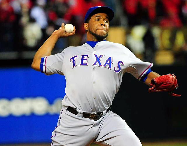 Netfali Feliz closed out the ninth for the Rangers, allowing one walk but striking out two to seal a 2-1 victory.