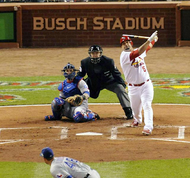Albert Pujols went 0-for-4 and flied out to right in what was possibly his final at-bat as a Cardinal in St. Louis.