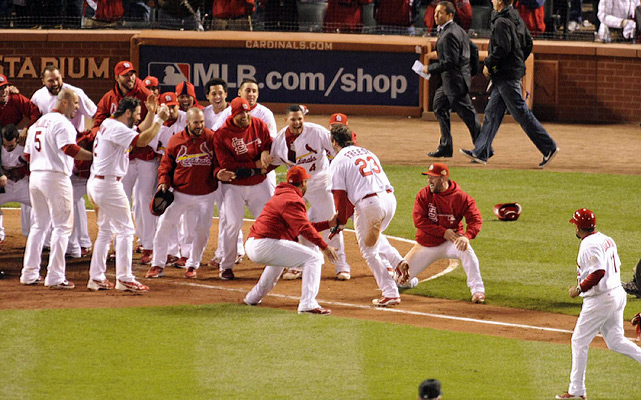 David Freese's walk-off homer leading off the 11th inning capped a startling series of comebacks as the Cardinals forced Game 7 after their improbable victory.