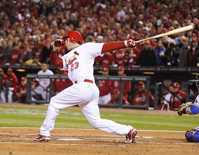 The Cardinals never trailed in Game 7 after World Series MVP David Freese's two-run double in the first inning tied the game.
