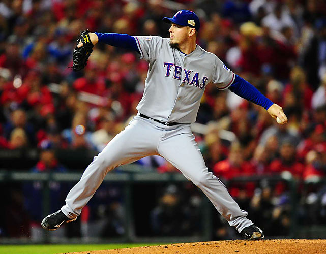 Texas starting pitcher Matt Harrison lasted only four innings, one of the many sluggish pitching performances for the Rangers in the series.