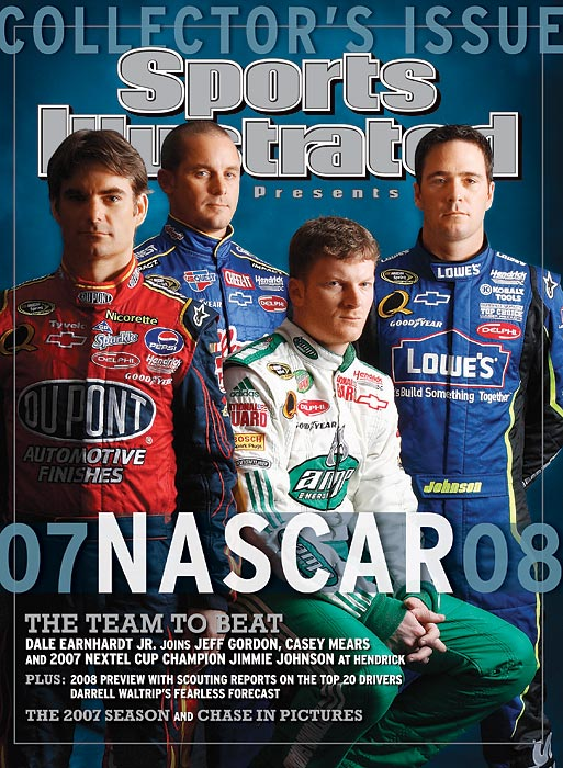 Jeff Gordon, Casey Mears, Dale Earnhardt Jr., and Jimmie Johnson.