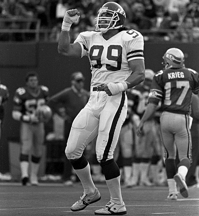 "Fans always can argue the legitimacy of Michael Strahan's ""gift"" sack from Brett Favre in 2002, which broke Gastineau's single-season mark of 22. But undeniable is Gastineau's head-spinning 41 sacks in a mere two seasons in 1983 and 1984. Gastineau simply could not be blocked."