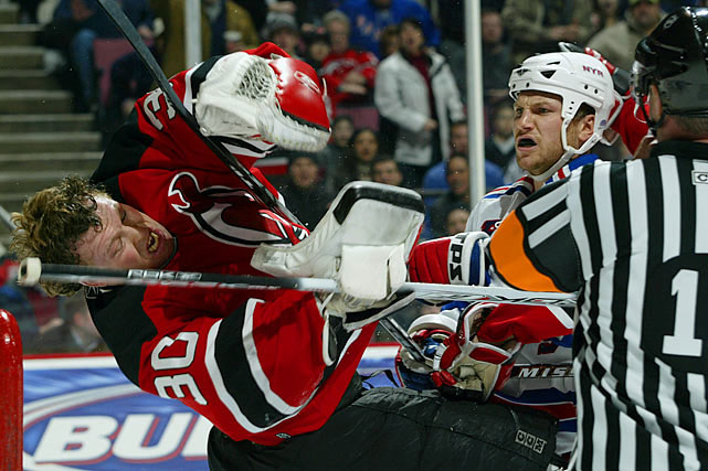In New York, Avery also began his feud with New Jersey Devils goaltender Martin Brodeur, who became his frequent verbal -- and physical -- sparring partner.