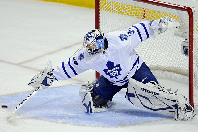 All eyes will be on the young netminder who handled himself exceedingly well as a rookie replacing veteran J-S Giguere. All things point to Reimer being durable and dependable. If that proves to be true, some of the Leafs' shortcomings won't be quite so glaring. --  Darren Eliot