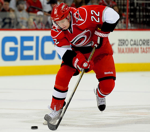 This 21-year-old center is just what the 'Canes needed: an infusion of offense in their top six forward mix. He produced nearly a point-per-game in the AHL and got 15 games with the big club last season. This season is all about solidifying his standing. The 'Canes will also hope to get blueline contributions from two teens who made the roster out of training camp: Ryan Murphy, 18, and Justin Faulk, 19. Murphy is a former junior teammate of 'Canes center Jeff Skinner, who won the Calder Trophy last season after being drafted in the first round the previous summer. -- Darren Eliot