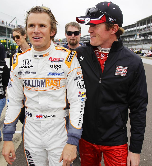 """""""My dearest friend Danny boy. Thank you for everything! [You're] an amazing driver and man. I will miss you so badly. Luv ya mate."""" (L-R) Dan Wheldon and Scott Dixon."""