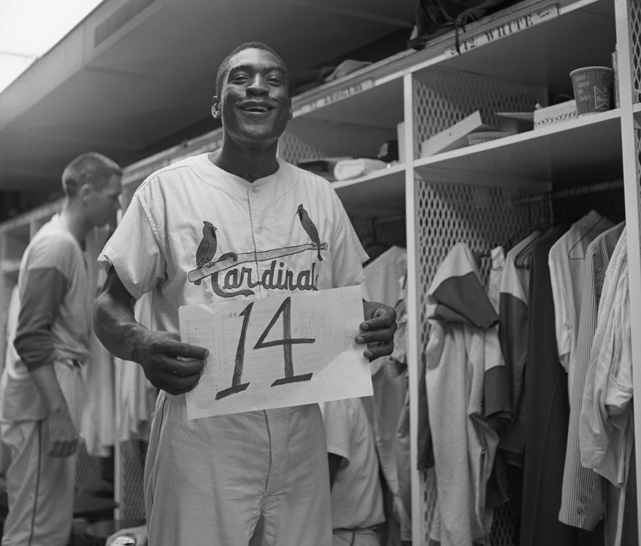 On June 17, 1941, Bill White recorded 14 hits in two consecutive double-headers to tie Ty Cobb's Major League record. White was an eight-time All-Star, seven-time Gold Glove winner, and part of the Cardinals' 1964 World Series-winning team.