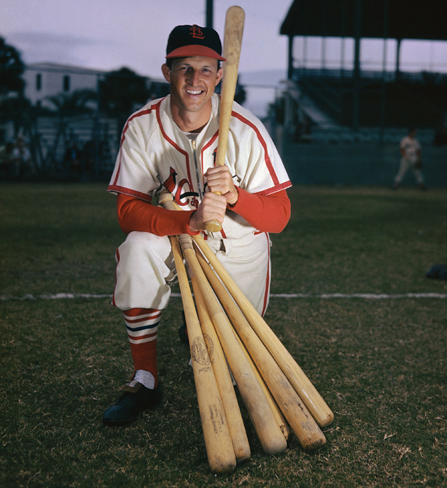 "Musial earned the nickname ""The Man"" during his storied Cardinals career. He was selected to the All-Star team a record 24 times, won seven NL batting titles, three NL MVP awards and was part of three World Series-winning St. Louis teams."