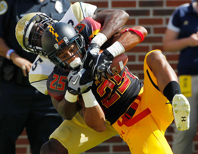 Most thought this would be a rout, but Dexter McDougle (pictured) and the Maryland defense kept the Terps in it. Maryland held the prolific Tech offense to 384 yards, including 270 rushing yards on 59 attempts. The Terps' upset bid fell short when they failed to convert on fourth-down in the closing minutes.