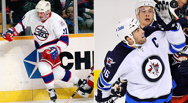 Drake came to Winnipeg as part of the Bob Essensa-Tim Cheveldae trade in 1994. He played the next two full seasons in Winnipeg and followed the franchise to Phoenix, totaling 382 games as one of its mainstays during the relocation period.   Ladd, re-signed to a five-year, $22 million deal over the summer, is the first captain of the new Jets. Like Dustin Byfuglien before him, Ladd was traded by the Blackhawks to the Thrashers after Chicago's Cup win in 2010. He led Atlanta in goals (29) and points (59) last season.