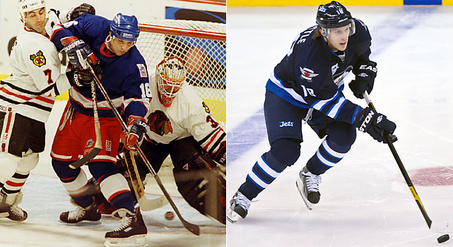 Now a commentator for NBC/Versus, Olczyk came to Winnipeg in 1990 after a promising start to his career in Chicago and Toronto. Olczyk would be dealt to the Rangers in 1992, winning a Cup in New York, before being traded back to Winnipeg, where he left after the team moved to Phoenix.   Little has only played for one franchise in his brief career. Little, the 12th overall pick in the 2006 draft, scored 81 goals with 68 assists in 282 games in Atlanta.