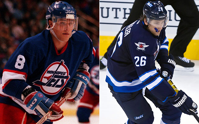 Selanne led the NHL with a rookie record 72 goals in winning the Calder Trophy in 1992-93 and would make three All-Star teams as a Jet before being dealt to the Mighty Ducks for Chad Kilger and Oleg Tverdovsky midway through the final season in Winnipeg. Back with the Ducks, Selanne gets his Winnipeg homecoming Dec. 17.  Wheeler was the fifth overall pick of the 2004 draft by, ironically, the Coyotes before a stint with the Bruins. He was traded to the Thrashers in February and scored seven goals with 10 assists in the final 23 games of the season.