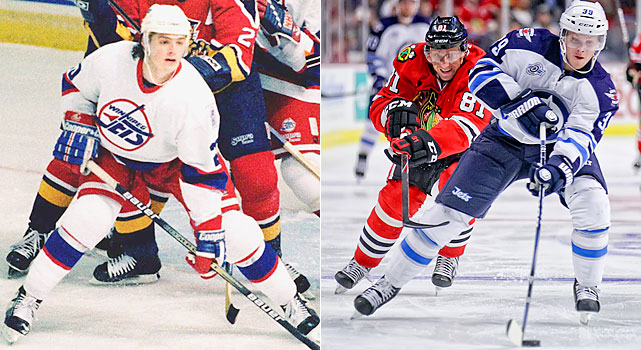 Tverdovsky, the No. 2 overall pick in 1994, played 31 games for the Jets in their final Winnipeg season after coming over from the Ducks in the Teemu Selanne trade. He would later be traded back to Anaheim in 1999.   Enstrom has enjoyed quite an early start to a career for a defenseman drafted in the eighth round in 2003. He finally left Sweden for Atlanta in 2007, played 82 games three straight seasons, reached 50 points in the final two years and made the 2011 All-Star team.
