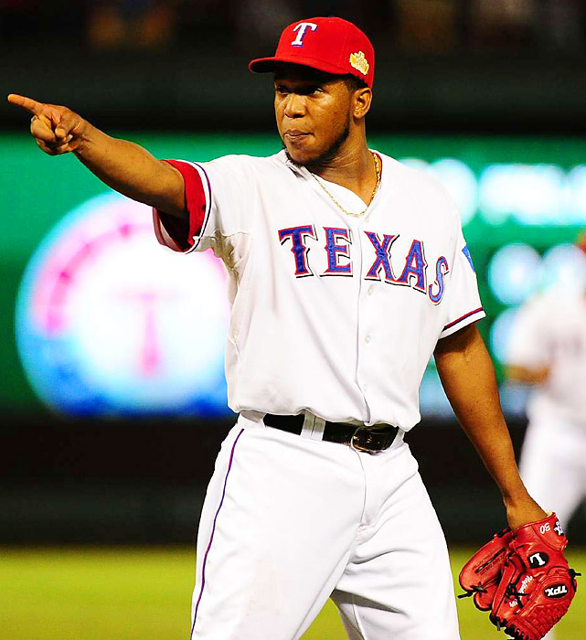 Neftali Feliz closed the door in the ninth, working around a hit batter and a walk.