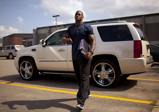"While many NFL players questioned the lockout, few did so as controversially as this Minnesota Vikings running back. In an interview with Yahoo! Sports, Peterson huffed, ""It's modern-day slavery, you know? People kind of laugh at that, but there are people working at regular jobs who get treated the same way."" Life must be tough. In September, Peterson and the Vikings agreed to a seven-year, $100 million contract extension."