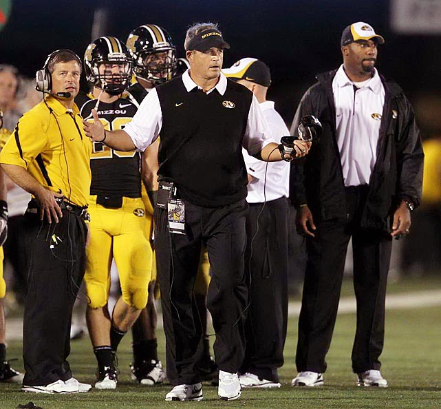 "The head football coach at Missouri, a spokesman for the state's ""Arrive Alive"" safe driving ad campaign, was busted for DWI on Nov. 16 in Columbia, Mo.  Adding insult to indignity, the video of his field sobriety test went viral on the internet. Pinkel, who was suspended for one game and docked up to $306,538 in salary, issued a public apology."