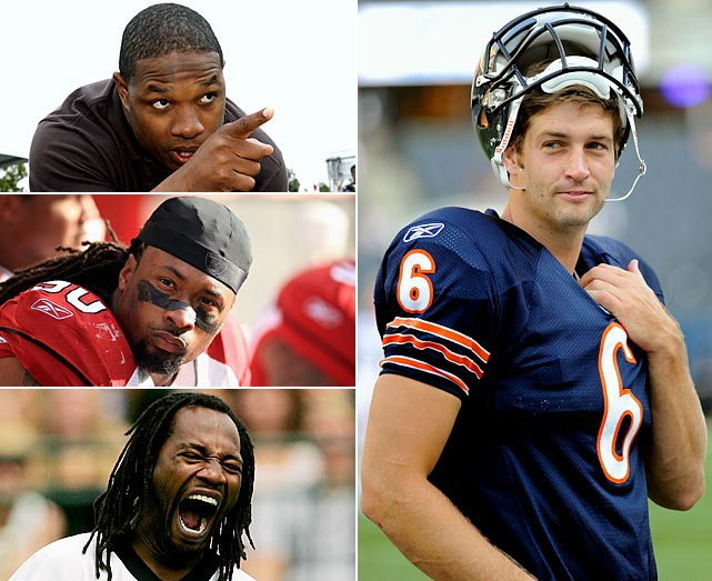 After going down with a knee injury in the NFC Championship Game, a 21-14 loss to the Packers, Bears quarterback Jay Cutler felt the wrath of his NFL peers. (Top to bottom on left) Maurice Jones-Drew, Darnell Dockett and Asante Samuel, among others, chimed in via Twitter to rip the signal-caller for his perceived lack of toughness. Cutler silenced his doubters by leading Chicago to a 7-3 record in 2011 before suffering a season-ending broken thumb in a game against San Diego on Nov. 20.