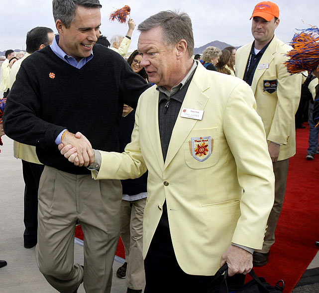 In a year plagued by college football scandal, the Fiesta Bowl was no exception. In March, it came to light that CEO John Junker not only set up a scheme to reimburse nearly $47,000 in improper political contributions, but also used bowl expenses to fund several lavish expenditures, including $33,000 for his 50th birthday party and $1,200 for a trip to a Phoenix strip club. Needless to say, he was promptly fired.