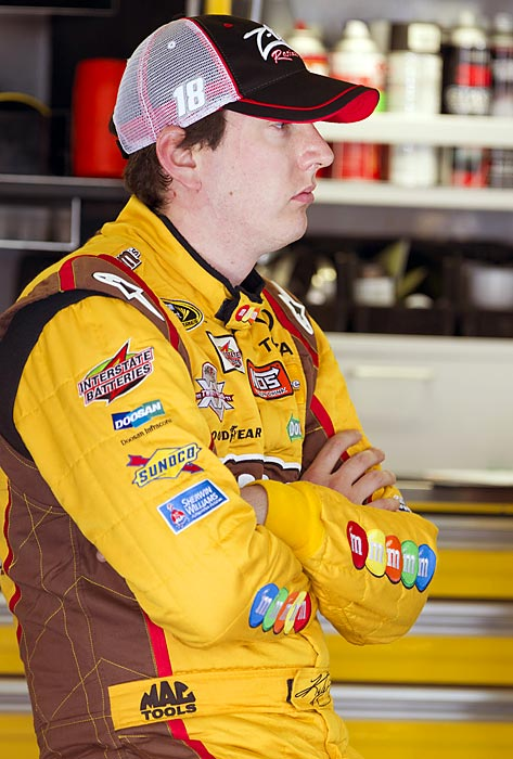 "The notoriously hotheaded driver, who had run-ins with driver Kevin Harvick and owner Richard Childress during the season, was fined $50,000 and suspended by NASCAR for the Nov. 4 Nationwide Series and Nov. 5 Sprint Cup races at Texas Motor Speedway after deliberately wrecking Ron Hornaday in a Camping World Truck Series race on Nov. 3. ''This is just stupid,'' said Hornaday, whose title hopes were dashed. ''He just drove me into the fence.'' (  Click here to watch the video.  ) Added Harvick: ''I think Kyle definitely showed his immaturity and why he's just one of those guys that just can't stand to lose, and just a poor loser,'' Busch, who had his license suspended in August for driving 128 in a 45-miles-per-hour zone in North Carolina, became the first driver to be parked by NASCAR since its ""Boys, have at it"" edict of 2010."