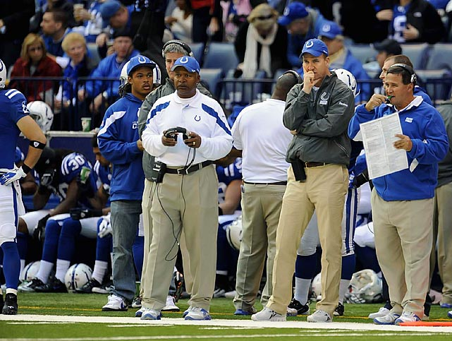 How much is Peyton Manning worth? If the 2011 Colts are any indication, somewhere between 10 and 14 victories. With Manning sidelined by a neck injury, Jim Caldwell and Co. have been woefully inept, limping to an NFL-worst 0-10 record. On the bright side, the Colts are in prime position to select Stanford wunderkind Andrew Luck with the No. 1 pick in next April's draft.