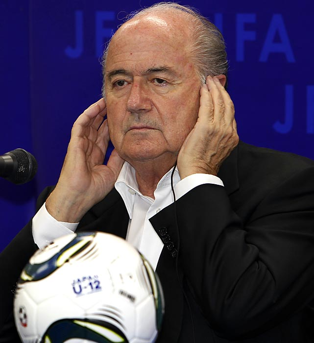 With a corruption scandal and racial incidents tarnishing soccer's image, FIFA's President made like Cornelius Fudge, the ostrich-like Minister of Magic in the Harry Potter book and movie series, by denying that racism is a problem on the pitch. In interviews with CNN and Al-Jazeera (  click here for video  ), Blatter claimed that any incidents could be settled by a handshake because it's only a game. The result was an international wave of criticism and ridicule that included cutting words from British Prime Minister David Cameron and star player David Beckham. Blatter, 75, resisted calls for his resignation and issued an apology.