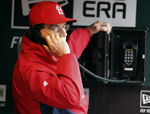 A duel between two premier pitchers, Chris Carpenter and C.J. Wilson, Game 5 of the World Series was determined by a communication breakdown. With the game tied in the eighth inning, St. Louis manager Tony La Russa phoned the bullpen to call for Jason Motte. Instead, out trotted Marc Rzepcyzynski and then Lance Lynn. Three pitching changes later, the Cardinals lost 4-2 and fell to the brink of elimination. La Russa enjoyed the last laugh, however, as his Cards rallied to win Game 6 before capping their improbable run with a 6-2 victory in Game 7. He announced his retirement just days later.